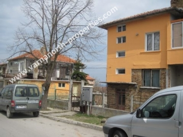 А floor of a house with a yard and a garage for sale in Galata, Varna